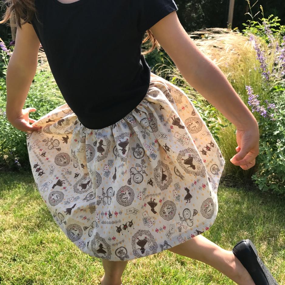 une jupe (et une déco) pour un anniversaire « alice au pays des